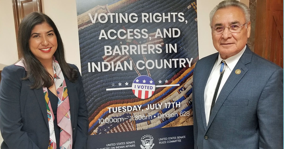 Testimony on Native American Voting Rights